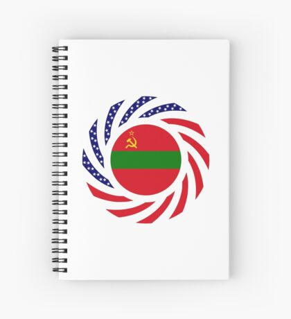 Transnistrian American Multinational Patriot Flag Series Spiral Notebook