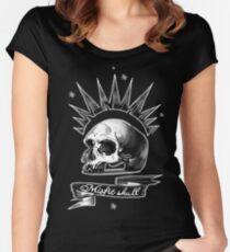 Misfit Skull Black Women's Fitted Scoop T-Shirt
