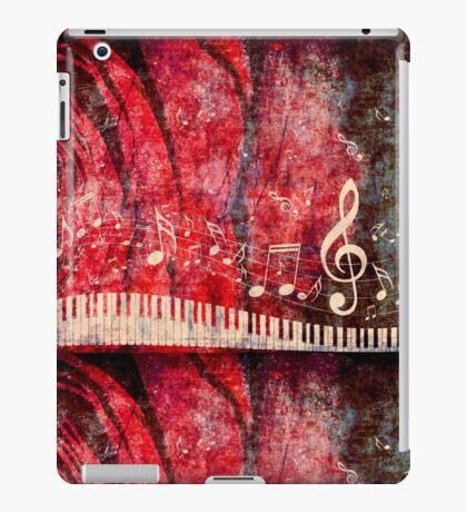 Klaviertastatur mit Musik merkt Grunge 2 iPad-Hülle & Klebefolie