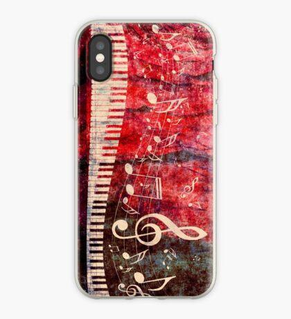 Klaviertastatur mit Musik merkt Grunge 2 iPhone-Hülle & Cover
