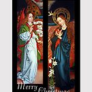 Angel of Annunciation with Mary by edsimoneit
