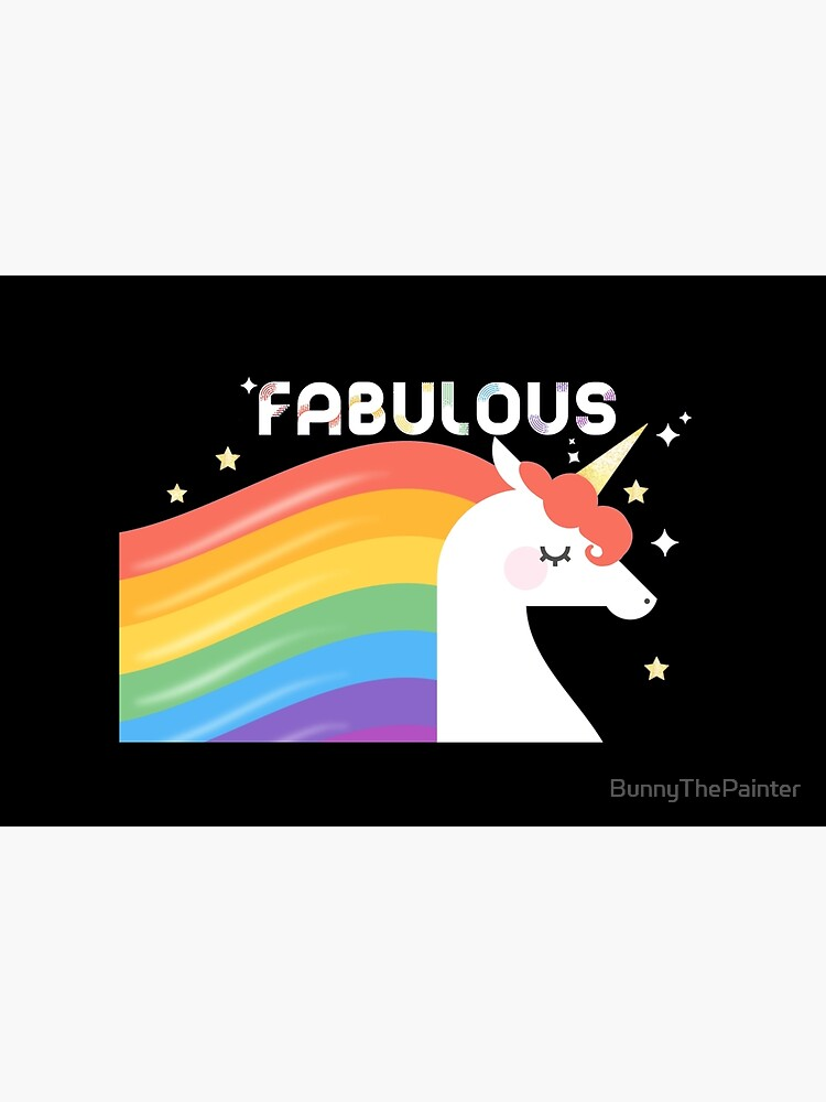Fabulous Sparkling Rainbow Unicorn by BunnyThePainter