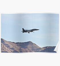 F-15 Strike Eagle against the mountains Poster