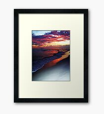 RED SKY NIGHT Framed Print