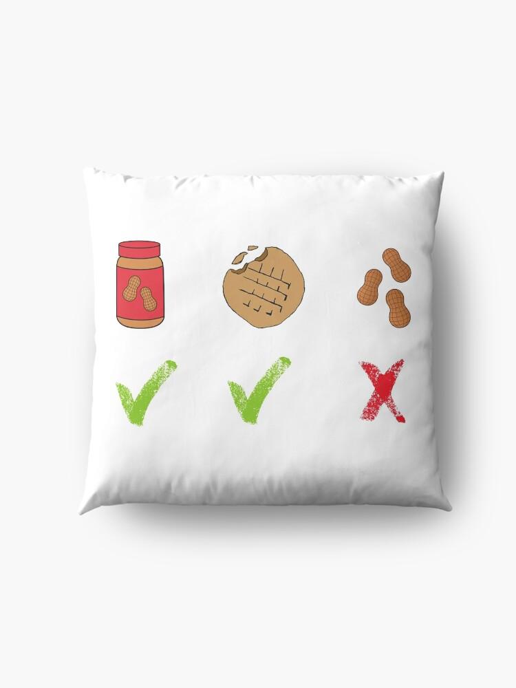 Alternative Ansicht von Erdnüsse - Pidge Bodenkissen