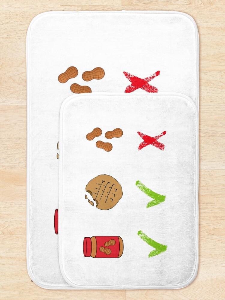 Alternative Ansicht von Erdnüsse - Pidge Badematte