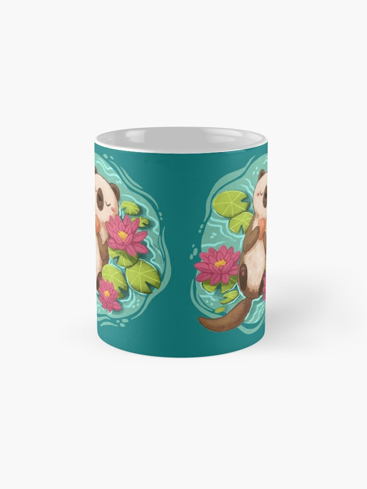 Alternate view of Happy Otter  Mug