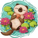 Happy Otter  by michelledraws