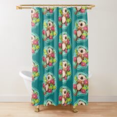 Happy Otter  Shower Curtain