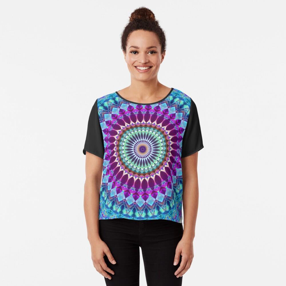 Geometric Mandala Chiffon Top