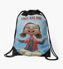 Girls are Fun! Drawstring Bag