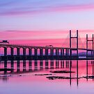 Second Severn Crossing Bridge in front of Sunset by Jens Roesner