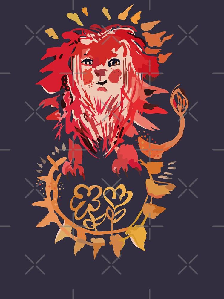 Löwe, Sonne und Blumen von gandix