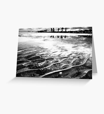 Lines in the sand (beach near geelong) Greeting Card