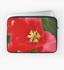 Red Tulip Blossom Laptop Sleeve