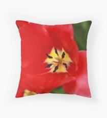 Red Tulip Blossom Floor Pillow