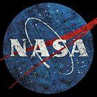 USA-Raumfahrtagentur-Weinlese-Emblem von Lidra