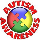 Autism awareness puzzle ball by bmgdesigns