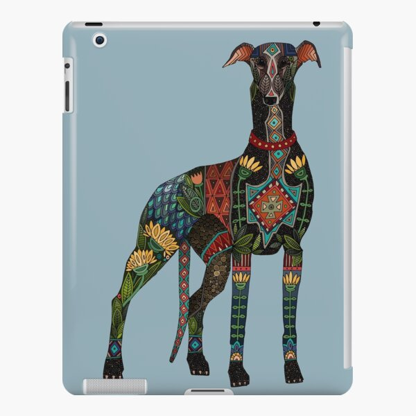 greyhound azure blue iPad Snap Case