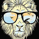 Summer Lion Sunglasses Hipster  by scooterbaby