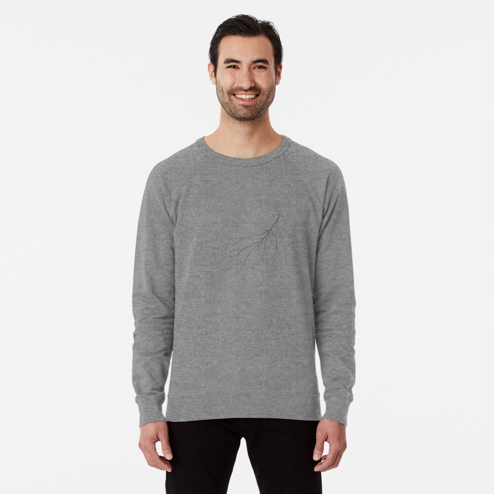 Mycelium (pencil drawing) Lightweight Sweatshirt