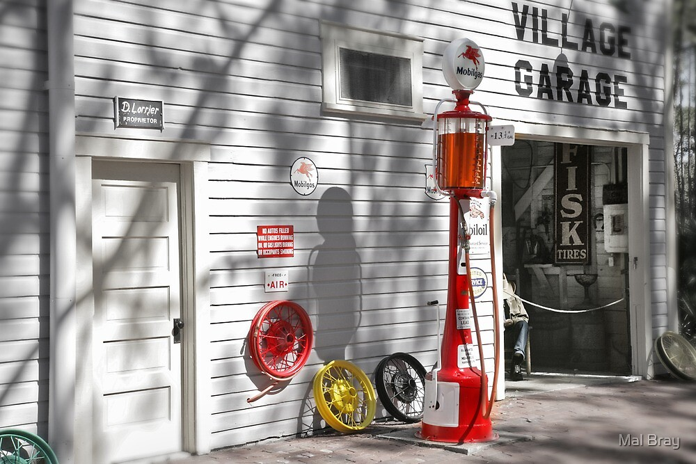 An Old Village Gas Station by Mal Bray
