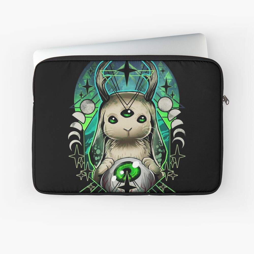 Space Bunny  Laptop Sleeve Front