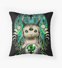 Space Bunny  Throw Pillow