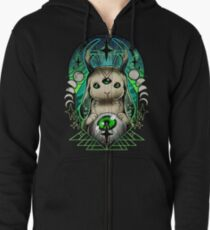 Space Bunny  Zipped Hoodie