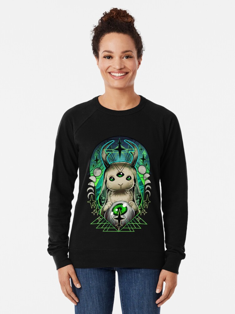 Alternate view of Space Bunny  Lightweight Sweatshirt