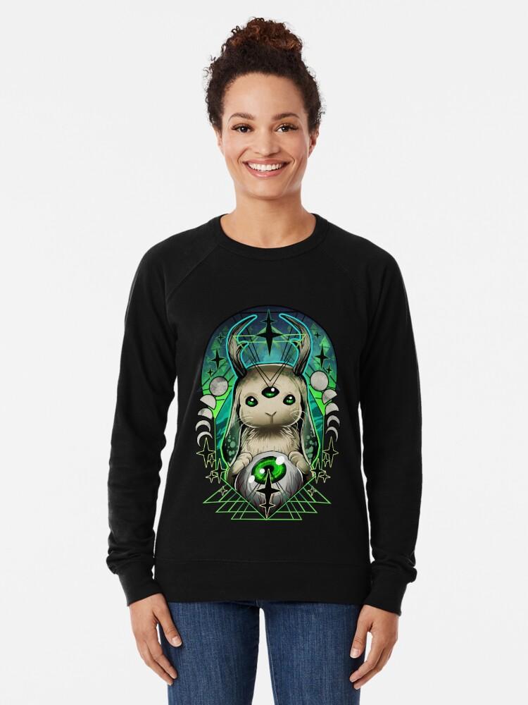 Alternate view of Space Bunny  Lightweight Sweatshirt