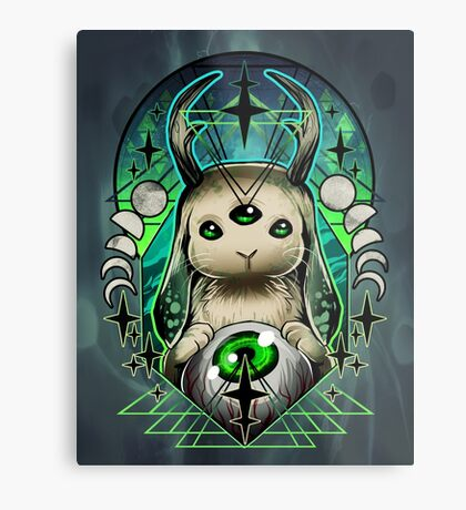 Space Bunny  Metal Print