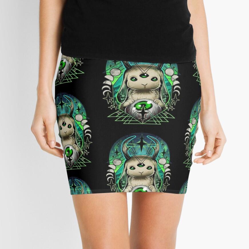 Space Bunny  Mini Skirt