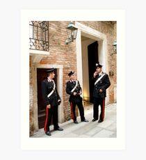 Cheeky Carabinieri Art Print