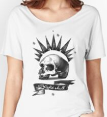 Misfit Skull White Women's Relaxed Fit T-Shirt