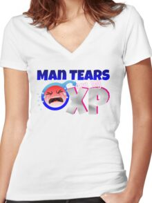 Man Tears are my XP Women's Fitted V-Neck T-Shirt