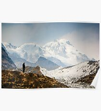 Looking at the Himalayas Poster