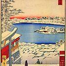 Yushima Tenjin Schrein von Utagawa Hiroshige (Reproduktion) von RozAbellera