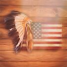 Native American USA Flag by Joey Di Nardo