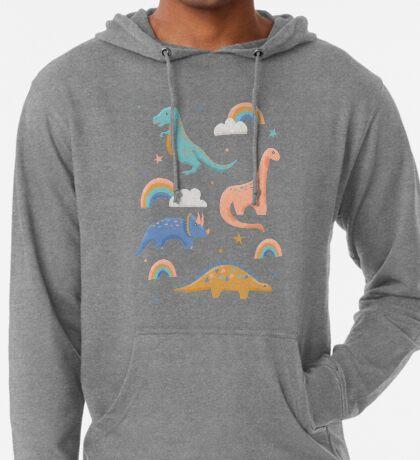 Dinosaurs + Rainbows Lightweight Hoodie