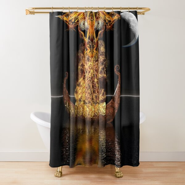 Viking Funeral revised Shower Curtain
