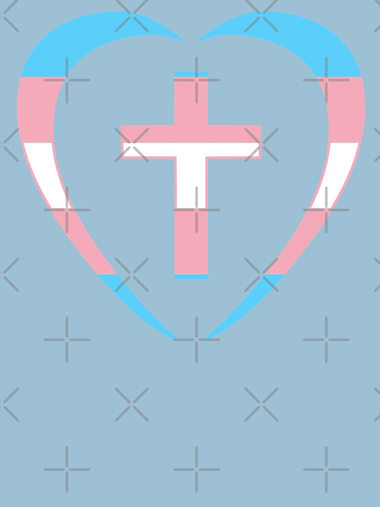 Christian Heart (Blue, Pink, White) Third Culture Series by carbonfibreme
