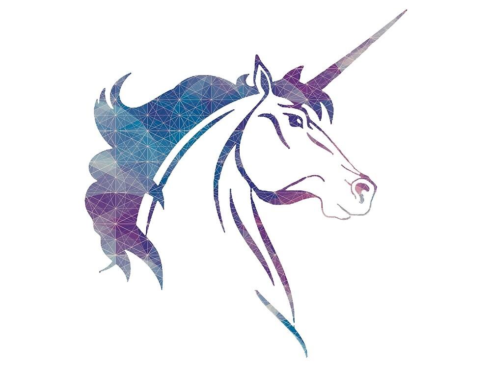 Unicorn - Geometric 2 by paperbouquet