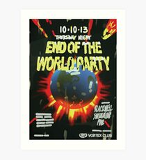 Vortex Club - End of the World Vortex Club Poster  Art Print