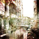 Venetian canal and bridge by friendlydragon