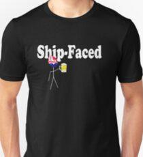 Ship-Faced (white lettering) Unisex T-Shirt