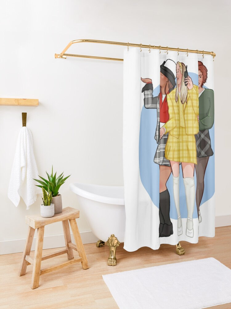 Alternate view of as if! Shower Curtain