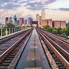 Downtown Dallas Train Track View by josephhaubert