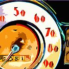 retro speedometer by Marda Bebb