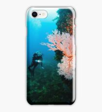 Diver and Gorgonian Fan iPhone Case/Skin